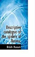 Descriptive Catalogue of the Spiders of Burma,