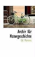 Archiv Fur Naturgeschichte