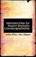 Jahresberichte Fur Neuere Deutsche Literaturgeschichte