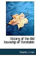 History of the Old Township of Dunstable