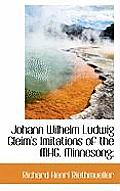 Johann Wilhelm Ludwig Gleim's Imitations of the Mhg. Minnesong;