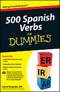 500 Spanish Verbs for Dummies, with CD (For Dummies) Cover