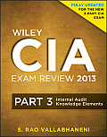 Wiley CIA Exam Review 2013: Part 3, Internal Audit Knowledge Elements