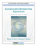Elementary Differential Equations (Custom) (9TH 11 Edition)