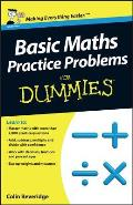 Basic Maths Practice Problems For Dummies Cover