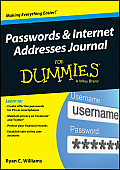 Passwords & Internet Addresses Journal For Dummies
