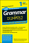 1,001 Grammar Practice Questions for Dummies Access Code Card (1-Year Subscription)