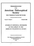 Proceedings, American Philosophical Society (Vol. 97, No. 5)