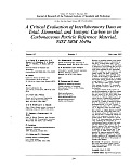 A Critical Evaluation of Interlaboratory Data