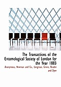 The Transactions of the Entomological Society of London for the Year 1883