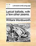 Lyrical Ballads, with a Few Other Poems. Cover