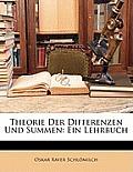 Theorie Der Differenzen Und Summen: Ein Lehrbuch