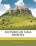 Lectures of Lola Montez