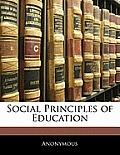 Social Principles of Education