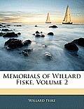 Memorials of Willard Fiske, Volume 2