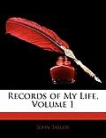 Records of My Life, Volume 1