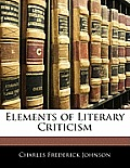 Elements of Literary Criticism