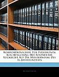 Kompositionslehre Fr Polyphonen Kirchengesang Mit Besonderer Rcksicht Auf Die Meisterwerke Des 16. Jahrhunderts