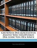 Grundriss Der Qualitativen Analyse Vom Standpunkte Der Lehre Von Den Ionen