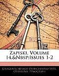 Zapiski, Volume 14, Issues 1-2