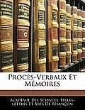 Procs-Verbaux Et Mmoires