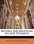 Beitrge Zur Einleitung Ins Alte Testament