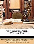 Sitzungsberichte, Volume 156