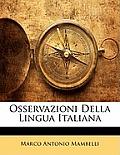 Osservazioni Della Lingua Italiana