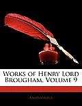 Works of Henry Lord Brougham, Volume 9