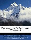 Documents Et Rapports, Volume 8