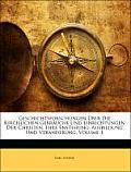Geschichtsforschungen Ber Die Kirchlichen Gebruche Und Einrichtungen Der Christen, Ihre Enstehung, Ausbildung Und Vernderung, Volume 1