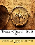 Transactions, Issues 8-10