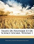 Trait de Politique Et de Science Sociale, Volume 1