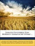 Johann Gottfried Von Herder's Smmtliche Werke ...