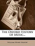 The Oxford History of Music...