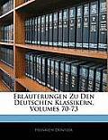 Erluterungen Zu Den Deutschen Klassikern, Volumes 70-73