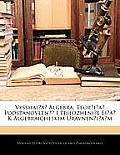 Vysshaia Algebra: Teoria Podstanovlen I Prilozhenie Eia K Algebraicheskim Uravneniam