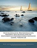 Sitzungsberichte Der Kaiserlichen Akademie Der Wissenschaften. Mathematisch-Naturwissenschaftliche Classe, Volume 68