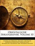 Orientalische Bibliographie, Volume 10
