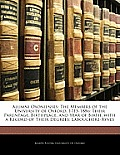 Alumni Oxonienses: The Members of the University of Oxford, 1715-1886: Their Parentage, Birthplace, and Year of Birth, with a Record of T