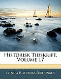 Historisk Tidskrift, Volume 17