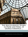 The Miscellaneous Works, in Prose and Verse, of George Hardinge ...