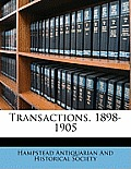 Transactions, 1898-1905