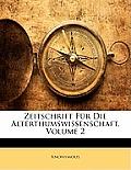 Zeitschrift Fr Die Alterthumswissenschaft, Volume 2