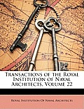 Transactions of the Royal Institution of Naval Architects, Volume 22