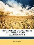 Physikalisch-Konomische Bibliothek, Volume 22, Part 1