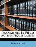 Documents Et Pices Authentiques Laisss