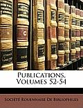Publications, Volumes 52-54