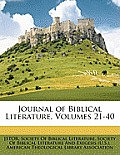 Journal of Biblical Literature, Volumes 21-40
