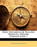 Nine Specimens of English Dialects, Volume 32, Issue 1
